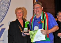 Award collected by Niels Els, President Skål International Garden Route, on behalf of the SAASA